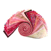 "Maywood Studio Precut Java Batiks 2.5"" Strips (40pcs) Cherry Jubilee"