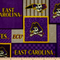 NCAA East Carolina Pirates Fleece College Patch Multi