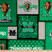 NCAA Marshall Thundering Herd College Patch Fleece Multi