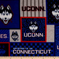 NCAA Connecticut Huskies College Patch Fleece Multi