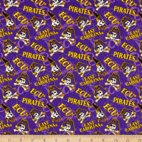 NCAA East Carolina Pirates Broadcloth Tone on Tone  Multi