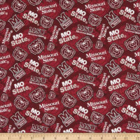 NCAA Missouri State Bears Tone on Tone Cotton Multi