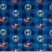 NHL Columbus Blue Jackets Buffalo Plaid Fleece Multi