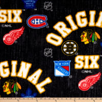 NHL Original Six Arch Logo Allover Fleece Multi