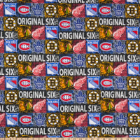 NHL Original Six Distressed Logo Allover Cotton Multi