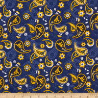 NCAA West Virginia Mountaineers Paisley Cotton Multi