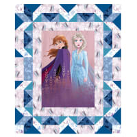 "Disney Frozen 2 Faux Quilt 37"" Panel Multi"