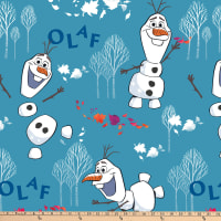 Disney Frozen 2 Fleece Olaf Toss Blue