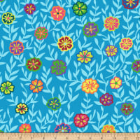 Kaffe Fassett Collective Busy Lizzy Blue