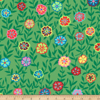 Kaffe Fassett Collective Busy Lizzy Green