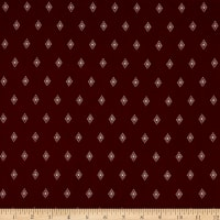Fabric Merchants Rayon Challis Geo Diamond Rust