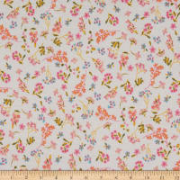 Fabric Merchants French Terry Knit Mini Floral Ivory/Pink