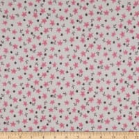 Fabric Merchants French Terry Knit Mini Floral Pink/Ivory