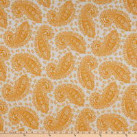 Fabric Merchants French Terry Knit Paisley Mustard