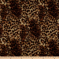 Fabric Merchants French Terry Knit Animal Cheetah Skin Brown