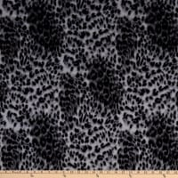 Fabric Merchants French Terry Knit Animal Cheetah Skin Grey