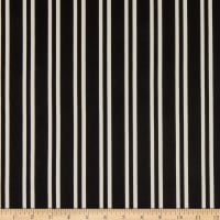 Fabric Merchants ITY Jersey Knit Double Vertical Stripe Black