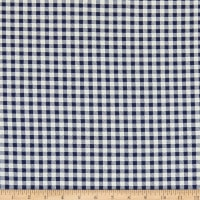 Fabric Merchants ITY Jersey Knit Gingham Navy