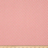 Fabric Merchants ITY Stretch Jersey Knit Small Checkered Coral
