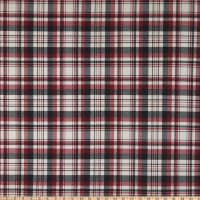 Fabric Merchants ITY Jersey Knit Plaid Berry