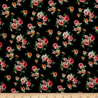 Fabric Merchants ITY Jersey Knit Ditsy Floral Black