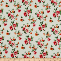 Fabric Merchants ITY Jersey Knit Ditsy Floral Ivory