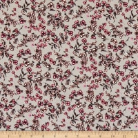 Fabric Merchants ITY Jersey Knit Ditsy Floral Grey
