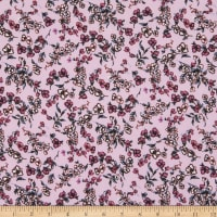 Fabric Merchants ITY Jersey Knit Ditsy Floral Lavender