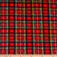 Fabric Merchants Fleece Plaid Red/Green/Yellow