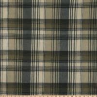 Fabric Merchants Fleece Plaid Black/Charcoal