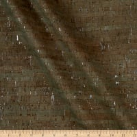 Belagio Cork Fabric Plain Green