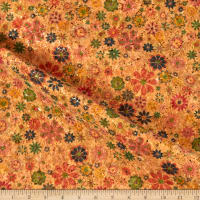 Belagio Cork Fabric Floral Yellow