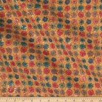 Belagio Cork Fabric Floral Gold