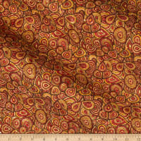 Belagio Cork Fabric Floral Red