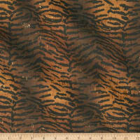Belagio Cork Fabric Tiger Print Gold