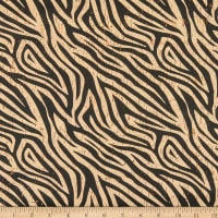 Belagio Cork Fabric Zebra Print Black