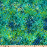 Anthology Batiks Art Inspired Dreamland Leaf Life Lagoon