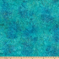 Anthology Batiks Art Inspired Dreamland Sketch Floral Teal