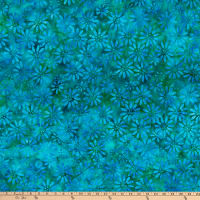 Anthology Batiks Jacqueline De Jonge Joy Dotted Floral Peacock
