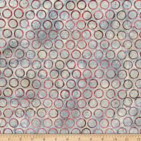Anthology Batiks Art Inspired Daniel Huntington Circles Grey
