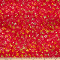 Anthology Batiks Art Inspired Northern Blooms Rose Red