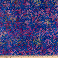 Anthology Batiks Art Inspired Northern Blooms Poison Ivy Purple