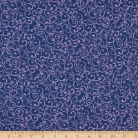 Michael Miller Carry a Tune Heart Swirl Navy