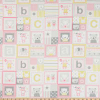 Michael Miller Fabrics Tiny Tots ABC's Patchwork Blossom