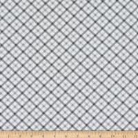 Michael Miller Fabrics Tiny Tots Baby Plaid Gray