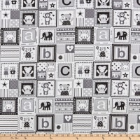 Michael Miller Tiny Tots Nap Time Patchwork Black