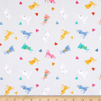 Makower UK Spring Rabbits Grey