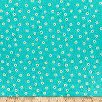 Andover/Makower UK Spring Daisy Teal