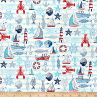 Andover/Makower UK Sail Away Icons White