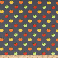 Andover Farm to Fabric Heirloom Tomatoes Grey
